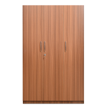 Cyclopes 3 Door Wardrobe - @home by Nilkamal, American Walnut