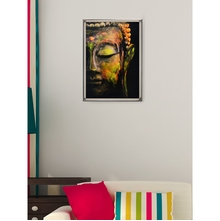 Buddha Moksha Picture Painting 50 x 70 - @home By Nilkamal, Black & Grey