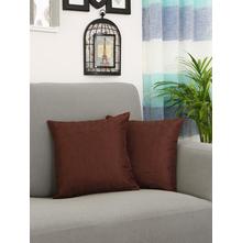 Textured Leaf 40 cm x 40 cm Cushion Cover, Brown
