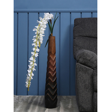 Dancing Orchid Tall Artificial Flower Stick, White