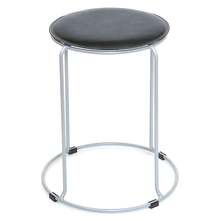 Nilkamal Metal 01 Hard PVC Stool, Black