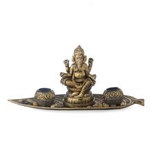 Devotional Ganesh on Leaf Show Piece - @home by Nilkamal