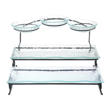 3 Tier Glass Platter with Stand - @home by Nilkamal