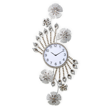 Floral 105CM Crystal Wall Clock, Gold