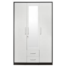 Nilkamal Ciaz 3 Door Wardrobe, Wenge & White