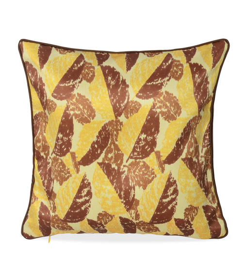 E Leaf 30 x 30 cm Cushion Cover Set of 2 - @home by Nilkamal, Yellow