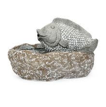 Fish 42 cm x 25 cm x 26 cm Water Fountain - @home by Nilkamal, Grey