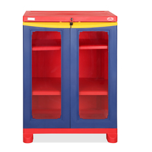 Nilkamal Freedom Small Cabinet - Pepsi Blue, Bright Red, Yellow