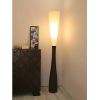 Hourglass Wooden Floor Lamp, Black