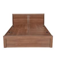 Sansa King Bed with Storage - @home by Nilkamal, Walnut