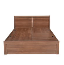 Sansa King Bed with Storage - @home by Nilkamal, Walnut