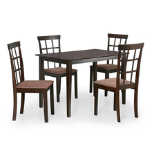 Trivia 4 Seater Dining Kit - @home by Nilkamal, Dark Cappucino