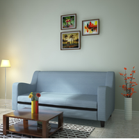 Gregory 3 Seater Sofa, Sky Blue