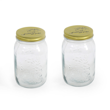 Quattro 100 ml Jar with metal Lid Set of 2 -@home by Nilkamal