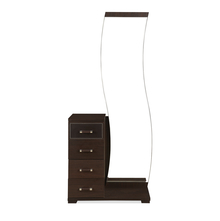 Emirates Dresser with Mirror - @home by Nilkamal, Dark Walnut