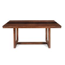 Tiara 6 Seater Dining Table - @home by Nilkamal, Dark Honey Brown
