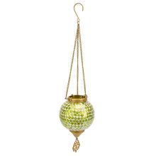 Mosaic Hanging Votive Pendant - @home by Nilkamal, Green