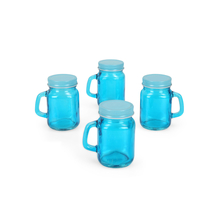 Mason Glass 120 ml Spice Jar Set of 4, Sea Green