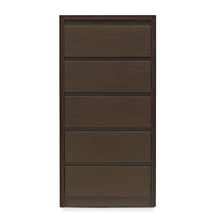 Vagus Chest of 5 Drawer - @home by Nilkamal,  dark walnut