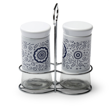 Salt & Pepper Set of 5 with Holder - @home by Nilkamal, Multicolor