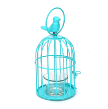 Free Bird Cage Votive Holder - @home by Nilkamal, Sea Green