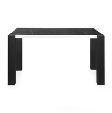 Fortica 4 Seater Dining Table, Black &White Marble