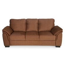 Sasha 3 Seater Sofa - @home by Nilkamal, Cocoa Brown