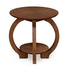 Swirl Side Table, Walnut