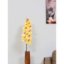 Long Orchid 101 CM Flower Stick, Yellow