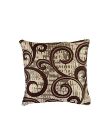 Scroll 30 cm x 30 cm Cushion Cover Set of 2 - @home by Nilkamal, Brown