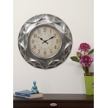 Antique Royal Guard Wall Clock - @home by Nilkamal, Silver