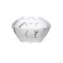 Satvario Square Round Serve Bowl With Lid, Grey