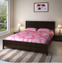 Cipher Queen Bed without Storage - @home by Nilkamal, Espresso