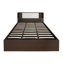 Guardian King Bed with Storage - @home by Nilkamal, Walnut and White