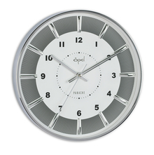 Opal Panache Wall Clock Sweep Movement with Raised Index, White