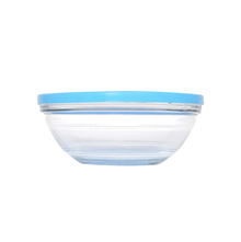 Duralex Round Glass 970 ml Container with Blue Lid, Clear