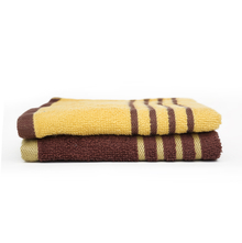 Hand Towel 40 x 60 cm Set of 2 - @home by Nilkamal, Yellow & Brown