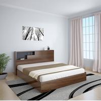 Borden Queen Bed With Headboard Storage, Wenge