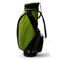 Golfoy FAT Zipperhead Golf Cart Bag - Black/Green,  black