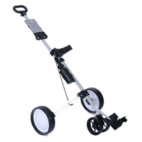 Golfoy Basics 2016-17 Kosmos Three Wheel Foldable Aluminium Trolley, 3