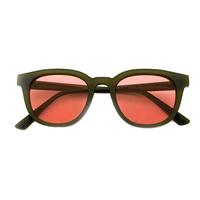 Baxter Sunnies (Olive Green Rim Pink Lens)