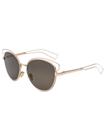 Kitty Corner Cat Eye Sunnies (Gold Reflective)