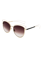 Kitty Corner Cat Eye Sunnies (Brown Lens)
