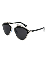 New Wave Metal Bridge Sunnies (Black)
