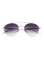 Sunset Boulevard Sunnies (Gold Rim Grey Lens)