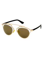 New Wave Metal Bridge Sunnies (Gold)