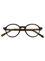 Old School Demi Amber Round Frame