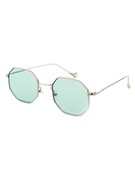 Funky Town Hexagon Sunnies (Green Lens)