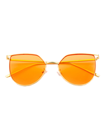 Melrose Cat Eye Sunnies (Light Orange Lens)