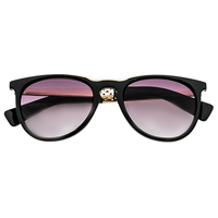 Metal Top Black Sunnies